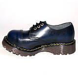 Низкие полуботинки Steel синие с эффектом затертости 3 дырки 101/102/CL/BLU/B, фото 5