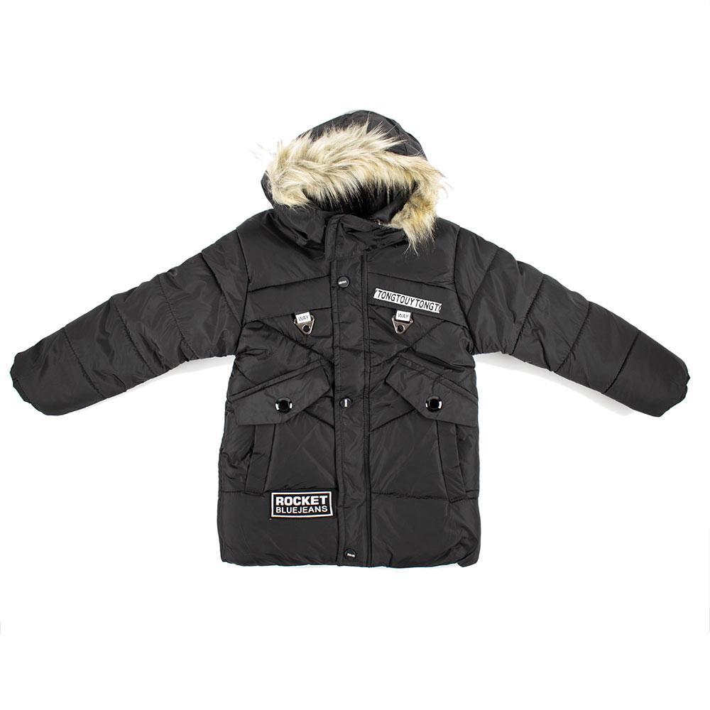 """Куртка зимняя для мальчиков """"Sitajie"""" 128  черный 980660"""