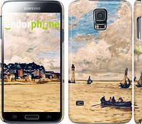 "Чехол на Samsung Galaxy S5 g900h Маяк и лодки ""166c-24"""