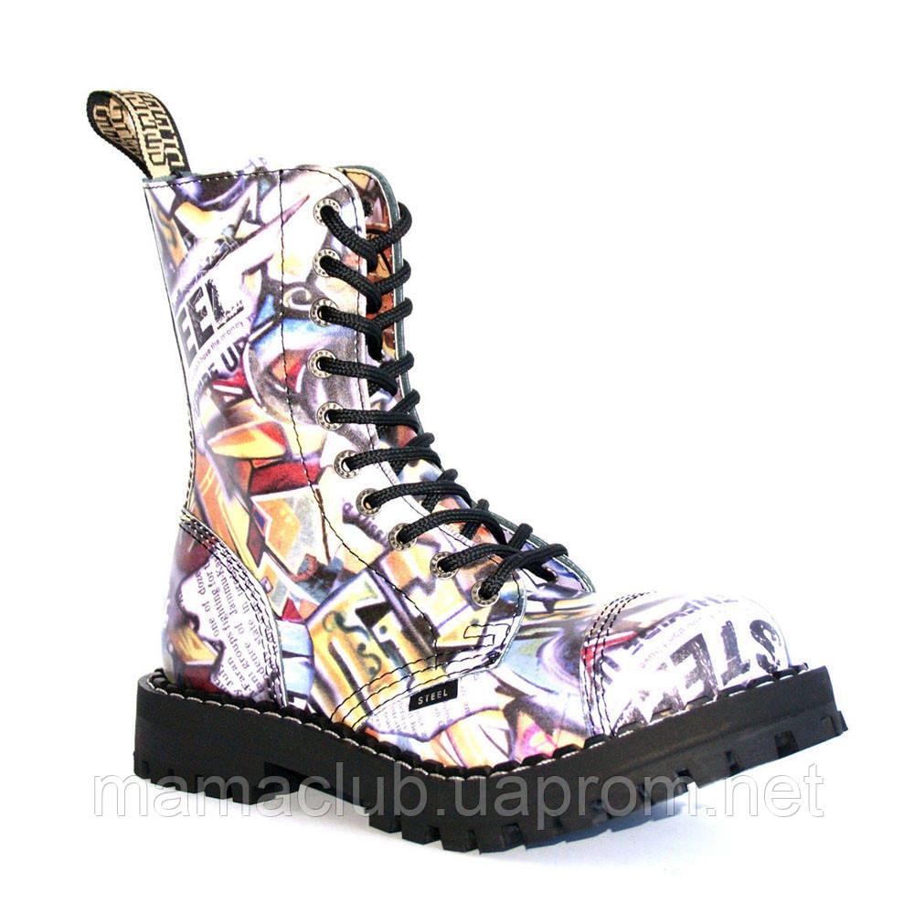 Высокие ботинки Steel с принтом 10 дырок 105/106/O/F.GRF