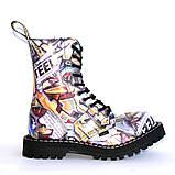 Высокие ботинки Steel с принтом 10 дырок 105/106/O/F.GRF, фото 2