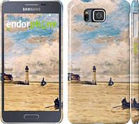 """Чехол на Samsung Galaxy Alpha G850F Маяк и лодки """"166c-65"""""""