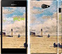 """Чехол на Sony Xperia M2 D2305 Маяк и лодки """"166c-60"""""""