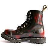 Средние ботинки Steel бордово-черные с эффектом затертости 8 дырок 113/114/O/Y/R/B, фото 5
