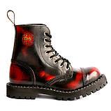 Средние ботинки Steel бордово-черные с эффектом затертости 8 дырок 113/114/O/Y/R/B, фото 6