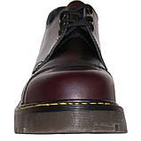 Низкие полуботинки Steel бордово-черные с эффектом затертости 3 дырки 101-102/CL/BUR/B, фото 4