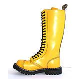 Зимние ботфорты Steel с шерстью желтые 20 дырок 139/140/O/F.YEL, фото 3