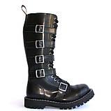 Зимние ботфорты Steel с шерстью черные с ремнями  20 дырок 139/140/O/5P/Z/B, фото 2