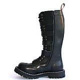 Зимние ботфорты Steel с шерстью черные с ремнями  20 дырок 139/140/O/5P/Z/B, фото 3