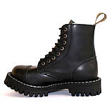 Зимние ботинки Steel с шерстью черные 8 дырок 113-114/OM/B, фото 5