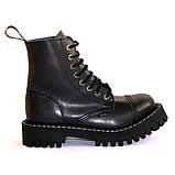 Зимние ботинки Steel с шерстью черные 8 дырок 113-114/OM/B, фото 6