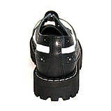 Низкие женские ботинки Steel черно-белые 4 дырки 112/O/B-F.WH, фото 3