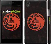 """Чехол на Sony Xperia Z1 C6902 Игра престолов. Targaryen """"1139c-38"""""""