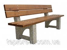 """Скамейка для дачи и дома """"Верона"""" (широкий брус)"""