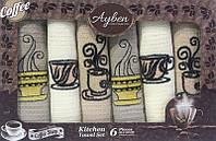 Набор 6 кухонных полотенец Ayben M4814 35х50, вафельные