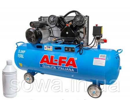 ✔️ Компрессор высокого давления AL-FA_ Альфа ALC-150-2 | 150 літрів, 2 поршня, фото 2
