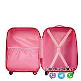 Дитячий пластиковий валізу на колесах Холодне серце ручна поклажа, дитячі чемодани, дитячі валізи, фото 3