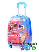 "Детский пластиковый чемодан на колесах  ""Молния Маквин"" ручная кладь, дитячі чемодани, дитячі валізи, фото 1"