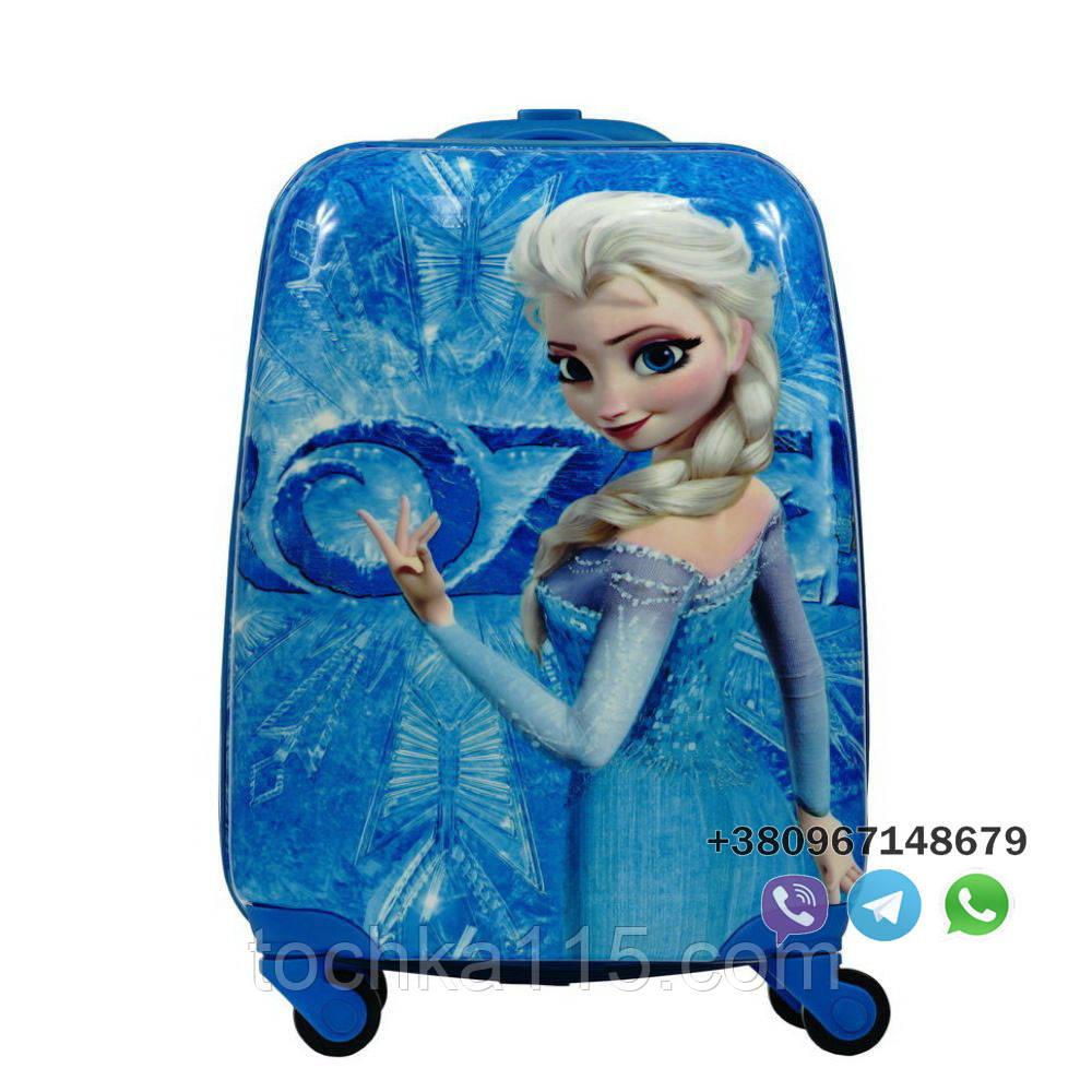"""Детский пластиковый чемодан на колесах  """"Холодное сердце"""" ручная кладь, дитячі чемодани, дитячі валізи"""