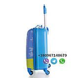 """Детский пластиковый чемодан на колесах  """"Свинка Пеппа"""" ручная кладь, дитячі чемодани, дитячі валізи, фото 2"""