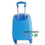 """Детский пластиковый чемодан на колесах  """"Свинка Пеппа"""" ручная кладь, дитячі чемодани, дитячі валізи, фото 3"""