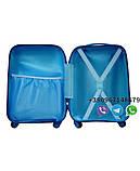 """Детский пластиковый чемодан на колесах  """"Свинка Пеппа"""" ручная кладь, дитячі чемодани, дитячі валізи, фото 4"""