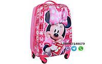 """Детский пластиковый чемодан на колесах  """"Мини Маус"""" ручная кладь, дитячі чемодани, дитячі валізи, фото 1"""