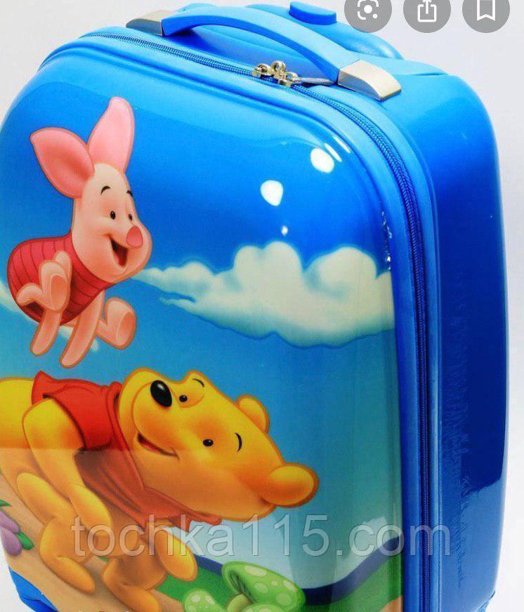 """Детский пластиковый чемодан на колесах  """"Винни"""" ручная кладь, дитячі чемодани, дитячі валізи"""