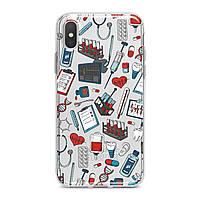 Чехол силиконовый для Apple iPhone (Медицинские приборы) 5/5s/SE 6/6s 6+/6s+ 7/7 plus 8/8+ 11 Pro про эпл айфон плюс X XS XsMax XR silicone case