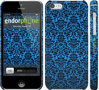 """Чехол на iPhone 5c Синий узор барокко """"2117c-23"""""""