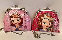 Детские лаковые сумочки на поцелуе для девочек с ремешком цепочкой 16,5*13 см