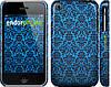 """Чехол на iPhone 3Gs Синий узор барокко """"2117c-34"""""""