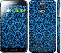"Чехол на Samsung Galaxy S5 Duos SM G900FD Синий узор барокко ""2117c-62"""
