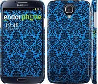 "Чехол на Samsung Galaxy S4 i9500 Синий узор барокко ""2117c-13"""