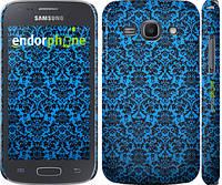 "Чехол на Samsung Galaxy Ace 3 Duos s7272 Синий узор барокко ""2117c-33"""
