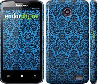 """Чехол на Lenovo A820 Синий узор барокко """"2117c-68"""""""