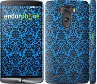 """Чехол на LG G3 dual D856 Синий узор барокко """"2117c-56"""""""