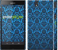 "Чехол на Sony Xperia Z C6602 Синий узор барокко ""2117c-40"""