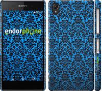 """Чехол на Sony Xperia Z2 D6502/D6503 Синий узор барокко """"2117c-43"""""""