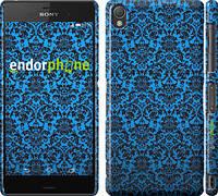"""Чехол на Sony Xperia Z3 D6603 Синий узор барокко """"2117c-58"""""""