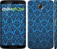 "Чехол на Motorola Nexus 6 Синий узор барокко ""2117c-67"""