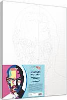 Набор-стандарт техника акриловая живопись по номерам Стив Джобс, фото 1