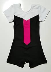 Купальник короткий рукав-шорты трехцветный  1