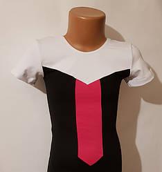Купальник короткий рукав-шорты трехцветный  2