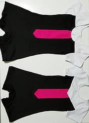 Купальник короткий рукав-шорты трехцветный  6