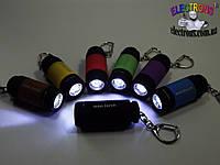 Миниатюрный USB аккумуляторный фонарик mini-torch с карабином, фото 1
