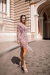 Воздушное коктейльное платье 5084
