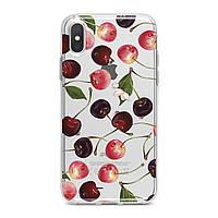 Чехол силиконовый для Apple iPhone (Спелые черешни) 5/5s/SE 6/6s 6+/6s+ 7/7 plus 8/8+ 11 Pro про эпл айфон плюс X XS XsMax XR silicone case