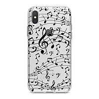 Чехол силиконовый для Apple iPhone (Ноты, скрипичный ключ) 5/5s/SE 6/6s 6+/6s+ 7/7 plus 8/8+ 11 Pro про эпл айфон плюс X XS XsMax XR silicone case