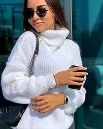 Объёмный свитер с горлом, 42-48